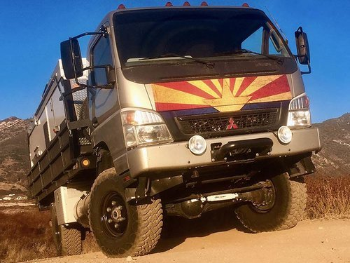 Fuso Offroad Super Singles, Bull Bars, Roof Facks & Suspension